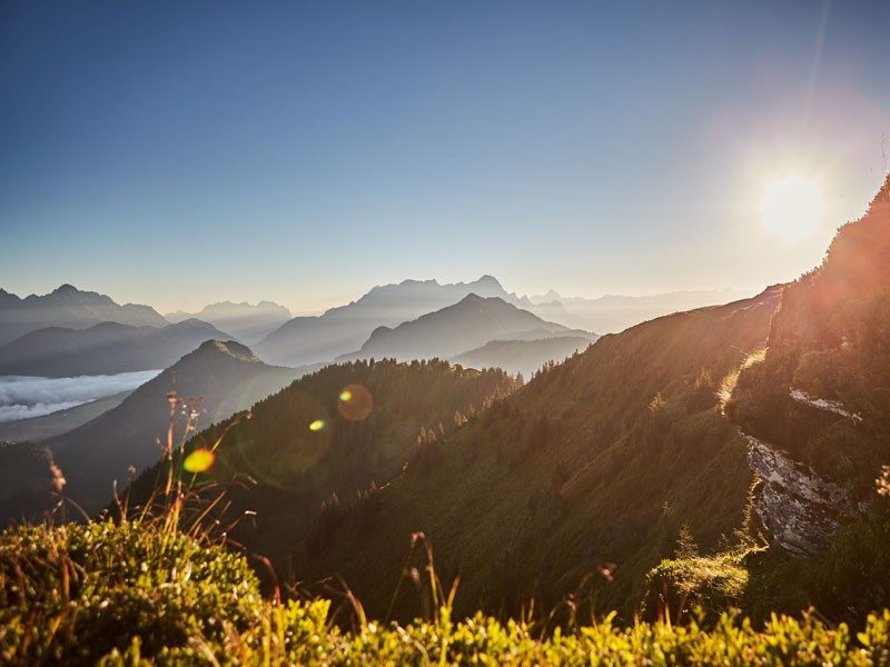 Horizont mit Sonne Saalbach
