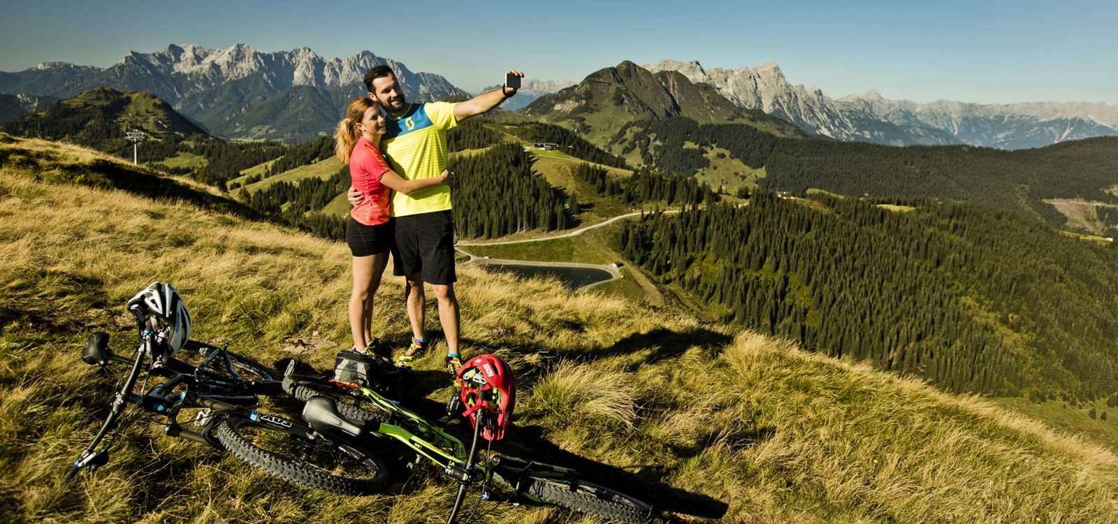 Biker Selfie Saalbach