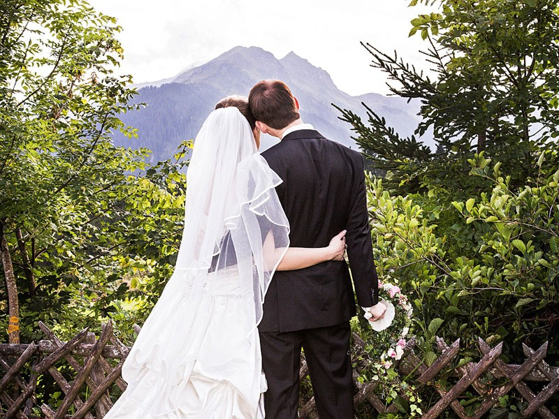 Paar mit Panorama